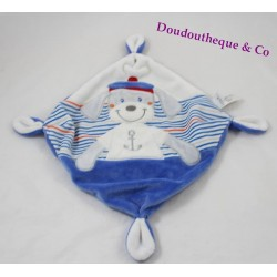 Dog flat Doudou blue white marine TEX nodes 20 cm