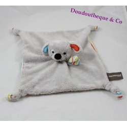 Dog flat Doudou ORCHESTRA striped multicolored 26 cm grey