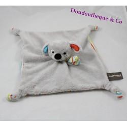 Doudou plat chien ORCHESTRA gris rayé multicolore 26 cm