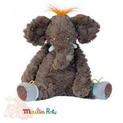 Plush elephant MOULIN ROTY Bazaar 30 cm moulin Roty Bo