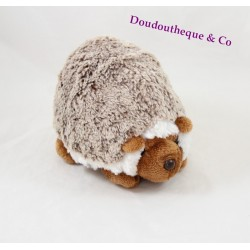 Peluche hérisson CREATIONS DANI chiné marron blanc 20 cm
