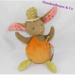 Doudou rabbit MOULIN ROTY rattle Bell 20 cm tartempois