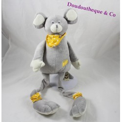Plush mouse the small Mary cheese bandana 45 cm yellow