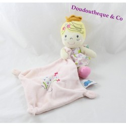 Doudou Princess CASINO pink flower girl handkerchief