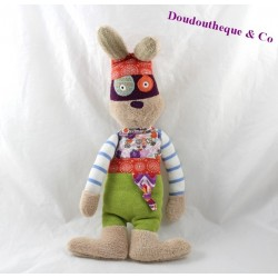 Doudou rabbit ON CHUCHOTE A my ear mask purple 32 cm