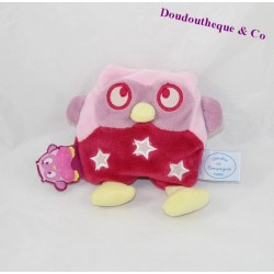 Doudou DOUDOU and company OWL OWL rattle it shines luminescent pink 13 cm