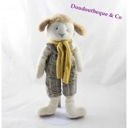 Peluche mouton MOULIN ROTY salopette rayé 32 cm