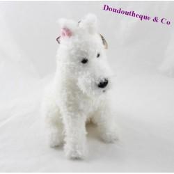 Peluche chien Milou TY Les aventures de Tintin Snowy Juratoys 21 cm