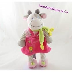 Cow plush NICOTOY pink scarf dress Green 30 cm