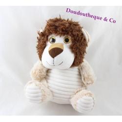 Plush lion MAX & SAX beige Brown mottled big eyes 24 cm