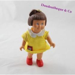 Poupée Lisa LEGO DUPLO robe jaune vintage 15 cm