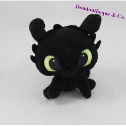 Peluche bébé Krokmou DREAMWORKS HEROES Dragons noir 14 cm