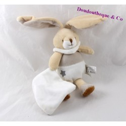 Doudou handkerchief beige 19 cm a dream baby rabbit