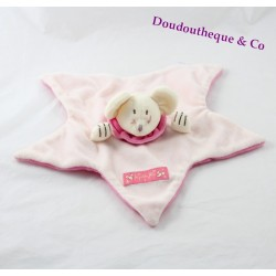 Doudou flat mouse JACADI Star Pink fairies small 30 cm
