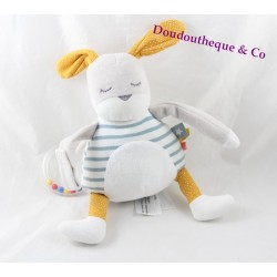 Plush of awakening Gla Gla rabbit TAPE A L'OEIL TAO Snow white blue yellow stripes 30 cm