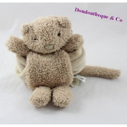Doudou handkerchief cat JELLYCAT beige hair long 23 cm