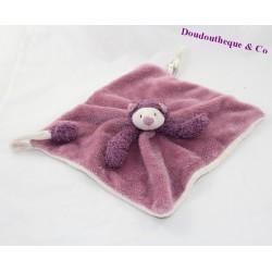 Doudou flat Mia cat MOULIN ROTY the Zazous 26 cm violet