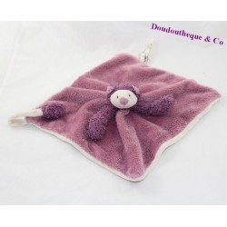Doudou plat Mia chat MOULIN ROTY Les Zazous violet 26 cm