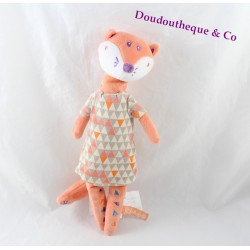 Stuffed Fox KIMBALOO salmon vixen dress triangle 29 cm Hall