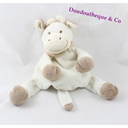 Doudou cow white tasks JOLLYBABY Brown bandana 20 cm