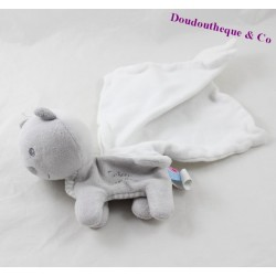 Doudou cat handkerchief sugar cashew gray white 14 cm