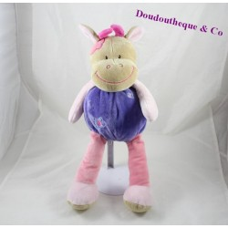 Cow plush purple pink DOUKIDOU Butterfly 40 cm