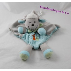 Sheep flat Doudou blue-grey NICOTOY scarf green 32 cm