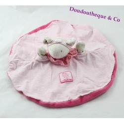 Doudou flat Lila mouse MOULIN ROTY round pink puppet Lila and disorderly