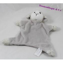 Sheep flat Doudou HACHETTE lamb gray white 23 cm