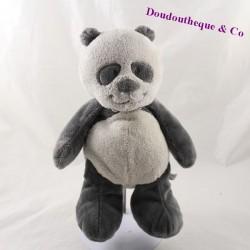 Peluche panda NOUKIE'S Louis et Scott gris 26 cm