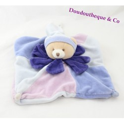 Doudou dish bears DOUDOU and company flower blue purple