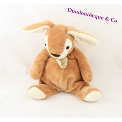 Doudou rabbit DOUDOU and company Brown and white tail in white tuft