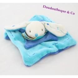 Doudou plat mini lapin DOUDOU ET COMPAGNIE bleu