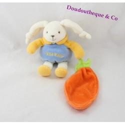 Doudou lapin DOUDOU ET COMPAGNIE et sa carotte petit modèle