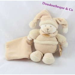 Teddy bears DOUDOU and company soft macaroon beige handkerchief
