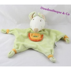 Doudou Milie mouse Don and company green Pocket star orange