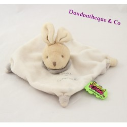 Doudou rabbit tattoo BLANKIE and company white beige 15 cm dish