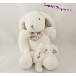 Plush musical rabbit candy DOUDOU and company gray baby Mole 25 cm
