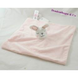 DouDou coniglio piatto PRIMARK rosa bianco nuvola cm 31
