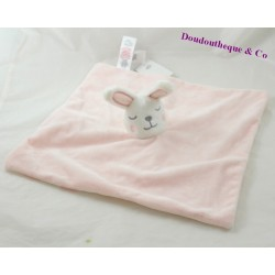 Doudou rabbit flat PRIMARK pink white cloud 31 cm