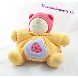 Don doll orange yellow KALOO 23 cm purple flower