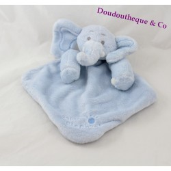 Doudou flat diamond blue Elephant Baby footprint 30 cm