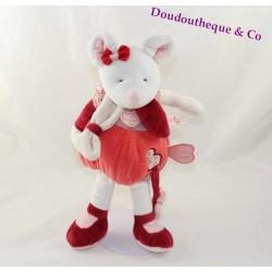 Peluche d'activités Clémentine souris DOUDOU ET COMPAGNIE rouge rose DC2616