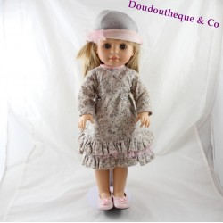 Blonde doll Emma PAOLA REINA dress floral ruffle PA371 42 cm