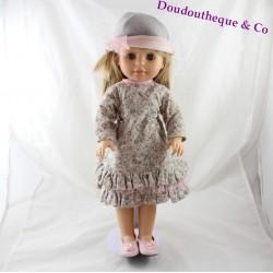 Poupée blonde Emma PAOLA REINA robe à volants fleuris PA371 42 cm