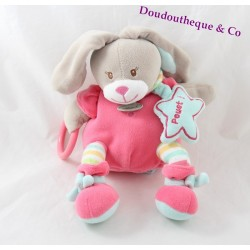 Blanket plush rabbit BABY NAT business ' pink stars Stella 25 cm