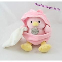 Don chick BABY NAT' Shell white handkerchief pink 20 cm