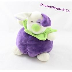 Doudou boule Mûre Chien BABY NAT' mûre le chien violet et vert
