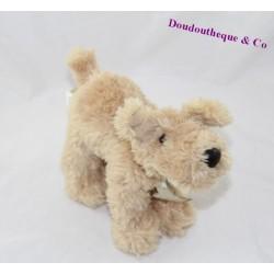 Doudou chien HISTOIRE D'OURS Papat beige HO1439 16 cm