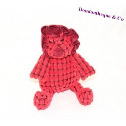 Doudou rhinoceros JELLYCAT rouge relief 26 cm